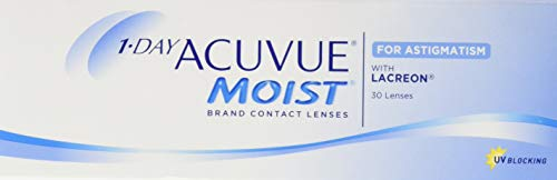 Acuvue 1-Day Moist For Astigmatism Tageslinsen weich, 30 Stück / BC 8.5 mm / DIA 14.5 mm / CYL -1.75 / ACHSE 140 / -0.5 Dioptrien