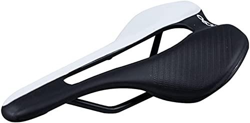 Tophacker 2021new Italia Carrera Bicicleta Silla De Entrenamiento Triathlon Light Bici Cushion Seat (Color: Negro) (Color : Black White)