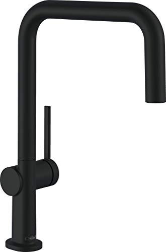 hansgrohe Küchenarmatur Talis M54 (Wasserhahn Küche, 360° schwenkbar, hoher Komfort-U-Auslauf 220mm, Standardanschlüsse) Schwarz