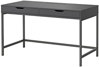 Ikea Alex Computer Desk with Drawers (Grey)