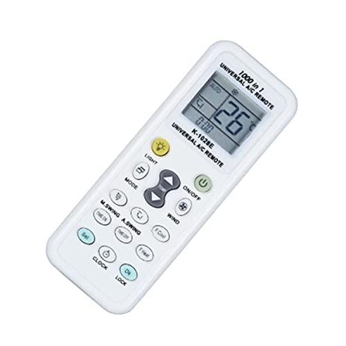 Telecomando universale per condizionatori 1000 codici compatibile con tutti i condizionatori e climatizzatori, funzione luce