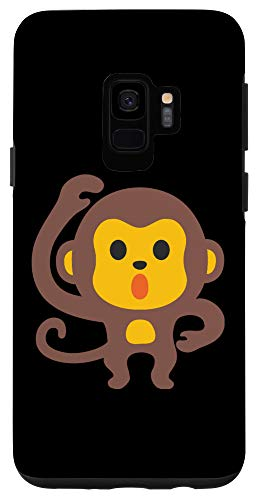 Galaxy S9 Emoji Monkey Adorable Cute Ape Brown Emoticon Texting Case