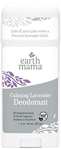 Calming Lavender Deodorant by Earth Mama | Natural and Safe for Sensitive Skin, Pregnancy and Breastfeeding, Contains Organic Calendula 3-Ounce