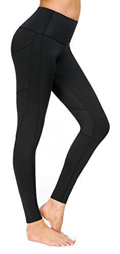 Flatik Damen Blickdichte Leggings HosenYoga Leggings Sporthosen für Damen Elastische Leggings Sporthosen(Schwarz XXL)