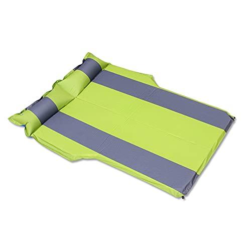 AOKUO Almohadilla de Dormir de Camping Inflable, Almohadilla de Dormir Doble Plegable de autoinflación, colchón Inflable para Acampar Duradero, Adecuado para Camping al Aire Libre y Alpinismo