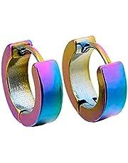Plus Nao(プラスナオ) フープピアス 耳飾り 2個セット メンズ レディース 男性 女性 男女兼用 アクセサリー リング 輪っか ワンタッチ ジュ