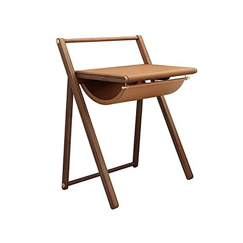 Scrivania per Computer Scrivania di legno moderna della scrivania di legno della scrivania da 28 pollici con tavolino di cuoio Scrivania creativa di studio creativa con spazio di archiviazione unico S