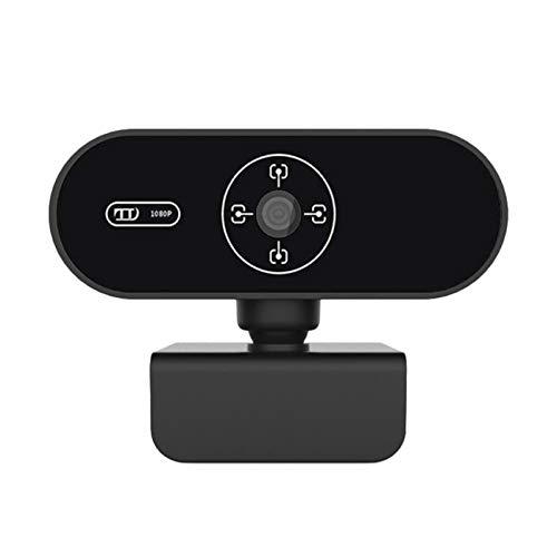 Rpanle Webcam PC Full HD 1080P con Micrófono, Webcam Portátil para PC, Webcam USB 2.0 con Flexible Giratorio Clip, Plug and Play, para Mac Windows PC Videollamada, Streaming De Juegos, Conferencia