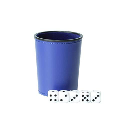 YUANLIN Dados Cuero PU Trompeta Franela Dados Copa Bar KTV Entertainment Dice Cup con Dados dcc Dados ( Color : Blue )