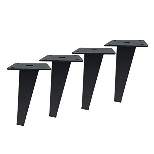PLHMS 4 Paquetes de Patas de Muebles oblicuos, Patas de sofá cónicas cuadradas, piensos de Soporte de gabinete de Metal de 7 Pulgadas, para cómoda Mesa de café TV Soporte Soporte Taburete,B15cm