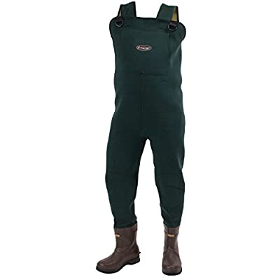 Frogg Toggs Amphib Neoprene Bootfoot Chest Wader, Cleated or Felt Outsole