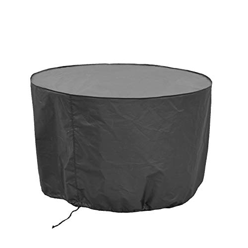 WXFN 600D Oxford Round Outdoor Garden Terrace Table And Chair Furniture Cover Furniture Protective Cover 6 Size,120x75cm/47x30in
