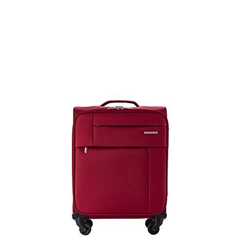 PACO MARTINEZ | Maleta de Cabina semirrígida Royal con Bolsillo Frontal 4 Ruedas|Equipaje de Mano Color Cereza|Capacidad máxima autorizada para Volar sin facturar.