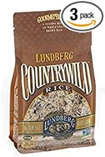 Lundberg Countrywild Rice Gluten Free Whole Grain 16 Oz. Pk Of 3.