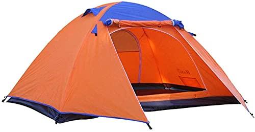 SHWYSHOP Tiendas de campaña para Acampar Tienda de campaña de Dos Capas de Aluminio de Doble Capa Tienda de campaña al Aire Libre Un Dormitorio de una Sola Planta Rainstorm fo