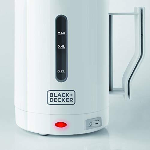 BLACK+DECKER Bollitore B+D MOD. Dc1005, 1000 W, 7 Cups, 1 Decibel, Plastica, Bianco