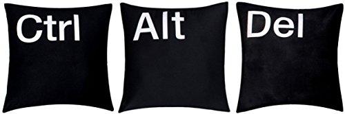 '' Ctrl Alt Del'' Premium Qualität Chenille Baumwolle schwarz 16