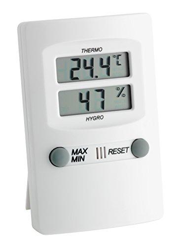 TFA Dostmann Digitales Thermo-Hygrometer, Innentemperatur und Luftfeuchtigkeit, Höchst- und Tiefstwerte, für ein gesundes Raumklima
