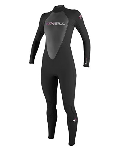 O'Neill Wetsuits Damen Neoprenanzug Reactor 3/2 mm Full Wetsuit, Black, 8