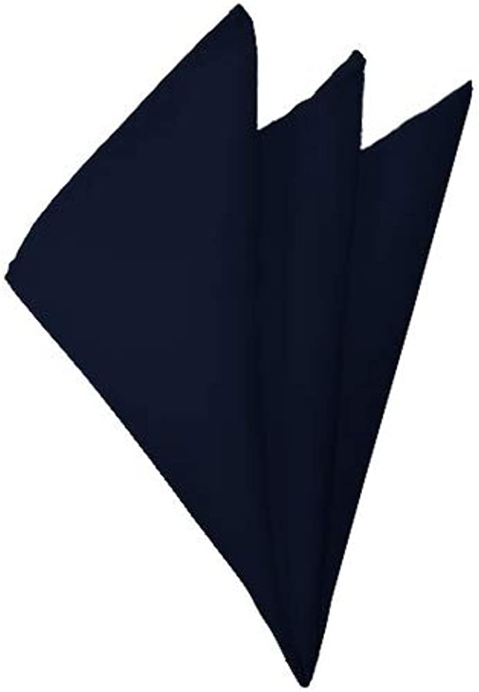 Special Campaign Solid Navy Alternative dealer Blue Handkerchief