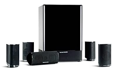 Harman Kardon HKTS-15 5.1 High-Performance, 6-Piece Home Theater Speaker System (Black Gloss) (Discontinued by Manufacturer)