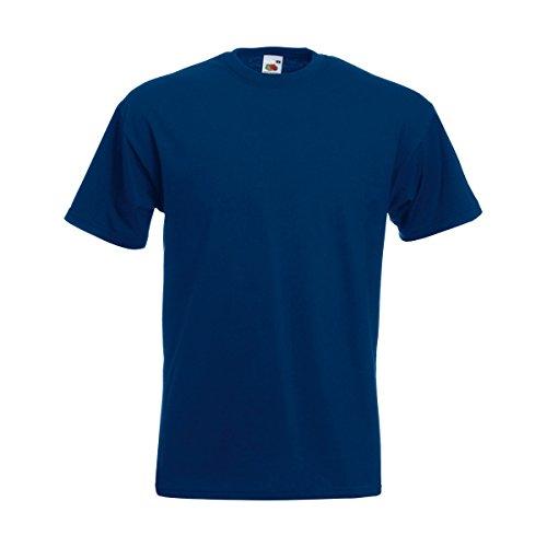 Fruit of the Loom Valueweight-T-Shirt für Männer, kurze Ärmel, Rundhalsausschnitt (kein V-Ausschnitt) Gr. XXXXL, marineblau