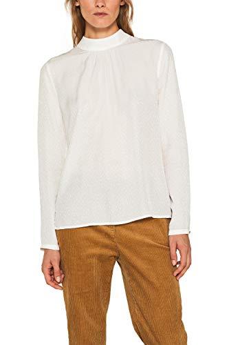 ESPRIT Collection Damen 109Eo1F003 Bluse, Weiß (Off White 110), (Herstellergröße: 38)
