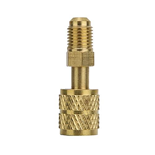 YANYAN Ring Store Aria condizionata New R410 Adattatore in Ottone R410 1/4' Maschio a 5/16' Tubo di Ricarica Femminile for pompare