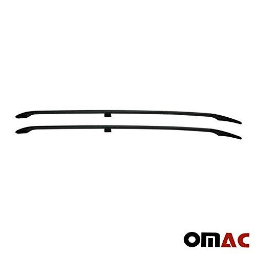 OMAC GmbH Aluminium Schwarz Dachreling Dachgepäckträger für Vito Viano W639 W447 2003-2020 Kurzer Radstand Relingträger Gepäckträger Fahrzeugspezifisch