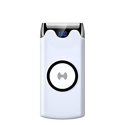 YOUR SUN Cargador portátil, Cargador portátil inalámbrico 10000mAh Carga rápida con 2SB Batería Externa Digital Power Bank Compatible iPhone12