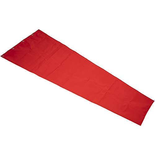 VEVOR Flughafen Windsack Wind Direction 61x244cm, Windsack für draußen 1,4 kg Aviation Wind Sock, Windsack für den Garten Fahnenmast Nylon Orange Rot Wind Socke Tasche zur Windmessung