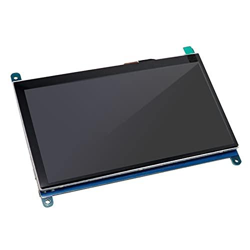 APKLVSR - Schermo capacitivo IPS per Raspberry Pi da 5 pollici con display touch screen 800 x 480, monitor USB alimentato HDMI con altoparlante e supporto per Raspberry Pi 4 3 2 Model B Win PC