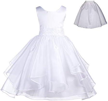 ekidsbridal Wedding Ruffles Organza Flower Girl Dress Sequin Toddler Pageant Free Petticoat product image