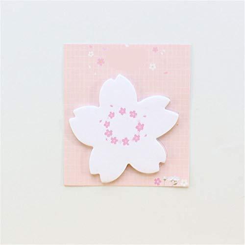 Post it BLTLYX Süße Blume Design Schule Sticky Schreiben Notizen Pad Set Briefpapier, Süßigkeiten Student Memo Pad Set Für Notebooks, 30stück Navy Blue