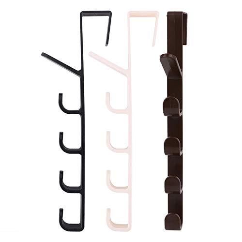 XZJJZ Tenedor de Llavero montado en la Pared, Gancho Multifuncional detrás de la Puerta, Gancho de Cinco etapas para Uso Creativo, Ganchos de Abrigos Organizador de Entrada, (Color : Black)