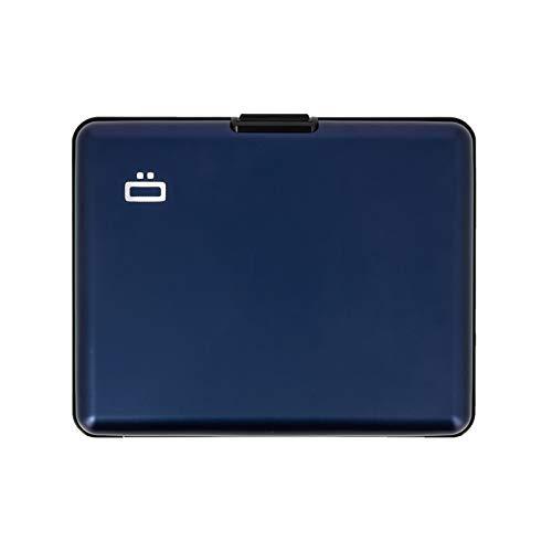 Ögon Smart Wallets - Portefeuille en aluminium Big Stockholm - Format Carte d'identité et Permis de Conduire - Porte-cartes anti-RFID - Capacité 10 Cartes et Billets - Navy Blue