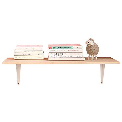 HXiaDyG Drijvende wandplank, planken van hout, voor monomotor, zitting voor slaapkamer, kantoor, keuken, badkamer, met houderrand, voor ijzer