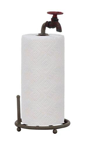 Creative Co-Op Rustic Metal Faucet Paper Towel Holder