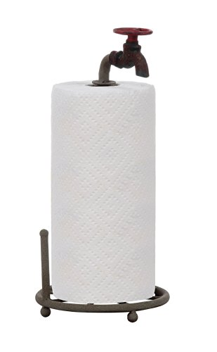 Creative Co-Op DA0075 Rustic Metal Faucet Paper Towel Holder
