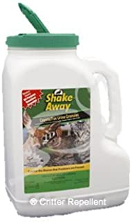 Shake-Aways All Natural Small Critter Repellent for Rabbits, Gopher, Groundhogs, Possum, Porcupines, Woodchucks other small animals (Fox Urine Granules) 12 Lb (Pound) Fox Urine Granules