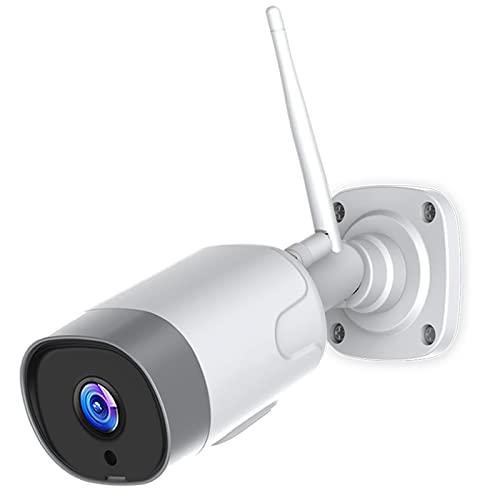 1080P Camara Vigilancia WiFi Exterior Inalámbrica , Cámara IP con Detección de Movimiento PIR, HD Visión Nocturna, Audio Bidireccional, Prueba Agua de IP66, Disponible con Alexa, Android/iOS App