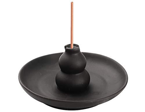 Xujia Incense Burner Brown Glazed Ceramic Gourd Style Censer Burner Incense Holder.