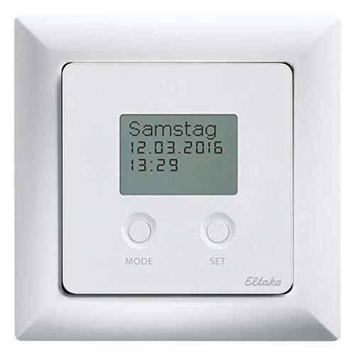 Eltako Funksensor Schaltuhr FSU55D/230V-wg mit Display, rws gl. Zeitschaltuhr für Installationsschalterprogramme 4010312318010