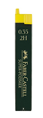 Faber-Castell 120312 - Feinmine Super Polymer, Härtegrad 2H, 0.35 mm, 12 Stück