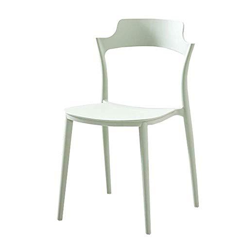 WSDSX Stuhl Modernes Design Esszimmerstühle Rückenlehne Design Kunststoffsitz Für Office Lounge Loungesessel 42x43x58cm (Farbe: Rot)
