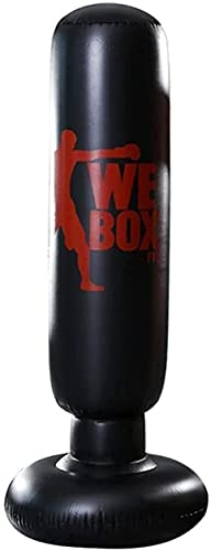 PGKCCNT Bolsa de Boxeo Inflable Base de Agua Punzonado Pasado de la Bolsa de Arena Deportivos Fitness Presión Alivio Equipo de construcción del Cuerpo (Color: 1.6m-2) (Color: 1.5m2) (Color : 1.6m2)