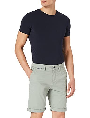 TOM TAILOR Denim Herren 1024561 Classic Chino Bermuda Shorts, 10767-Greyish Shadow Olive, L
