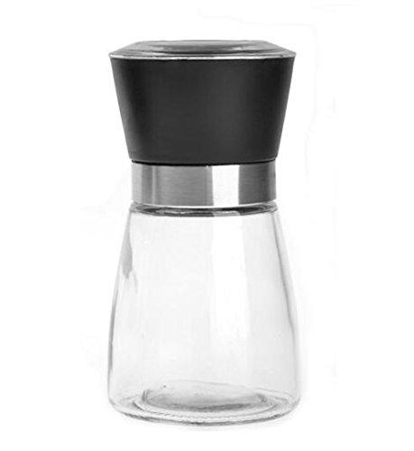 High Grips Glass Salt and Pepper Grinder Shaker Set Pepper Mill Salt Mill Seasoning Bottle