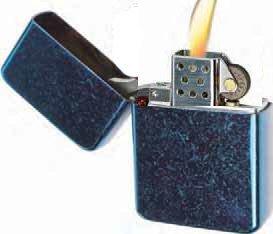 Vector KGM Thunderbird Vintage Lighter - Street Scratched Antique Blue...