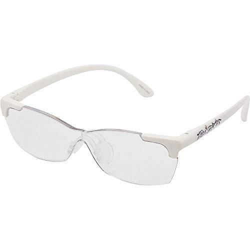 キングジム メガネ型 拡大鏡 花柄 AM41 白